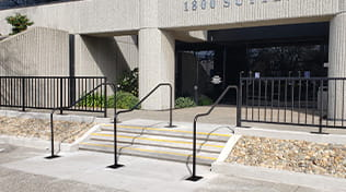 commercial iron railing 3