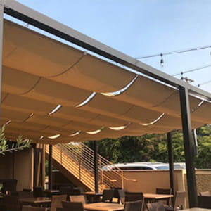 product listing residential slide wire canopies