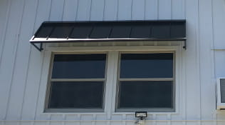 Residential aluminum window awnings black color.
