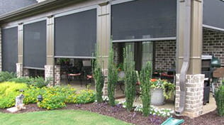 Outdoor patio shades, Exterior roll-up shades