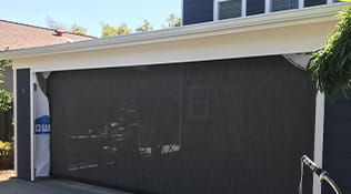 exterior drop-down shades