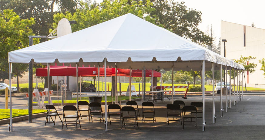 Custom Tent for COVID by Goodwin-Cole